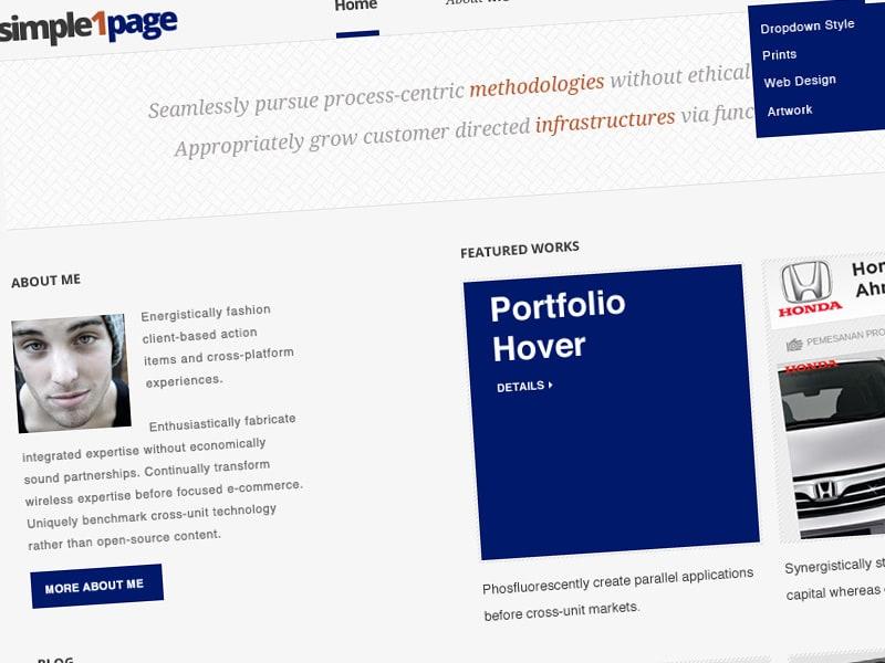 ProSume: Free Simple One Page Portfolio Design